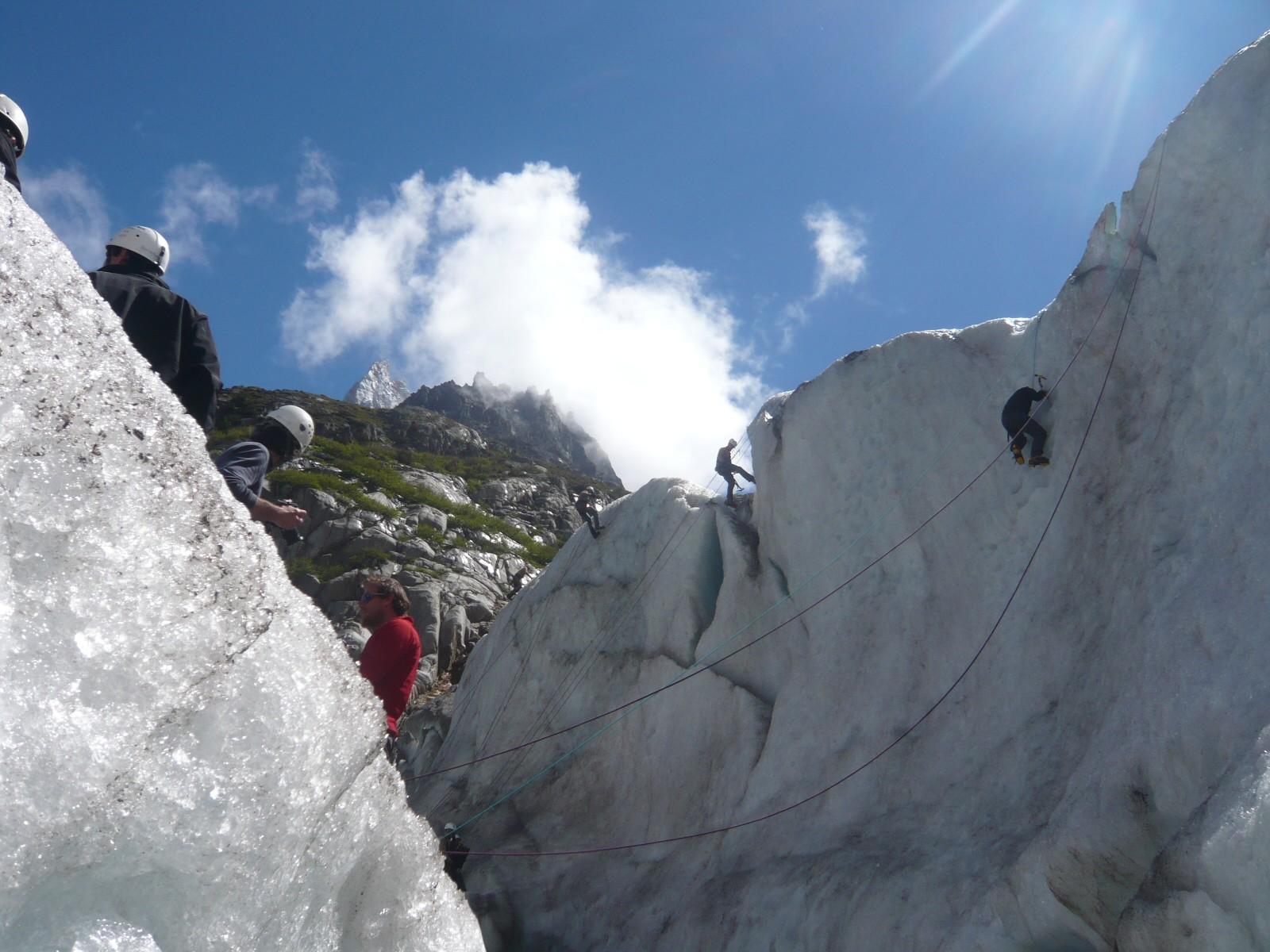 Initiation et école de glace activité incentive séminaire à chamonix