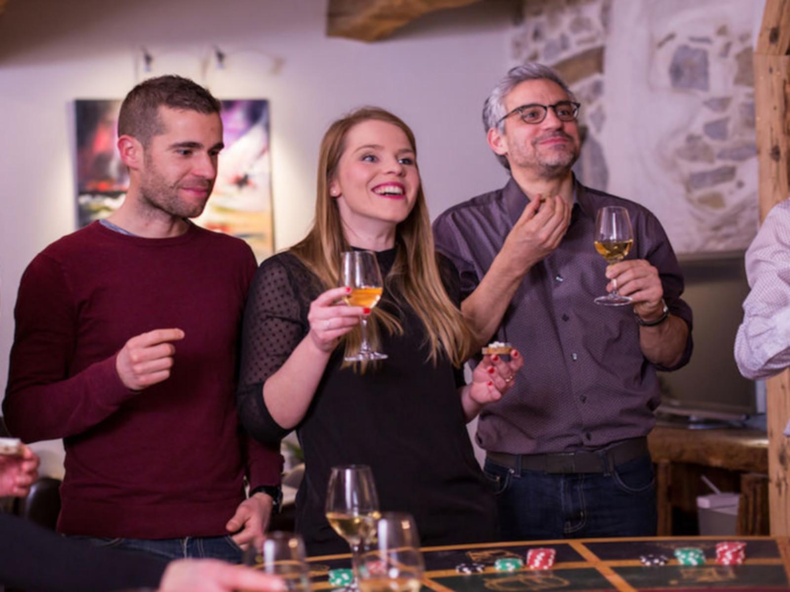 Animation séminaire casino des vins Savoie Mont-Blanc