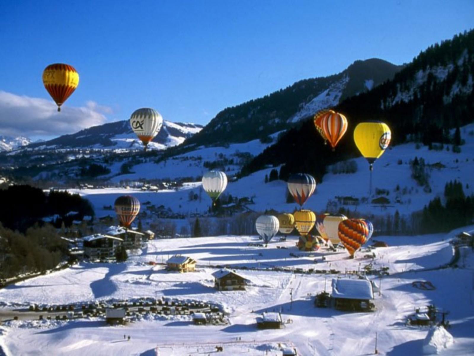 montgolfière et station séminaire à praz sur arly
