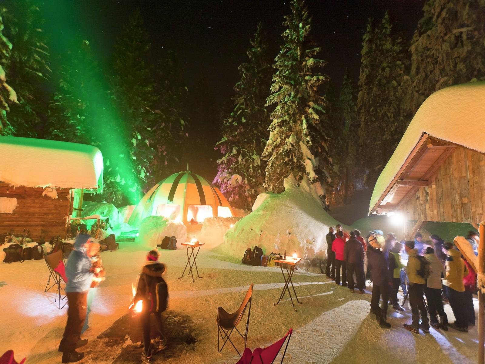 Soirée originale séminaire au village igloo - Haute Savoie