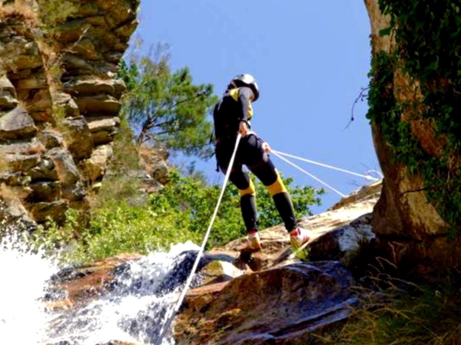 descente rappel canyoning stage sportif d'oxygénation savoie mont blanc