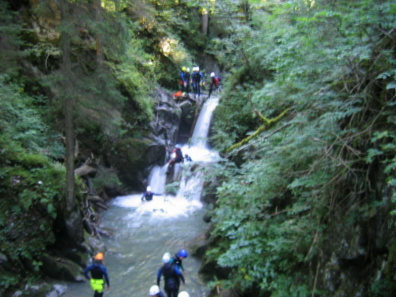 activité incentive canyoning séminaire à Megève