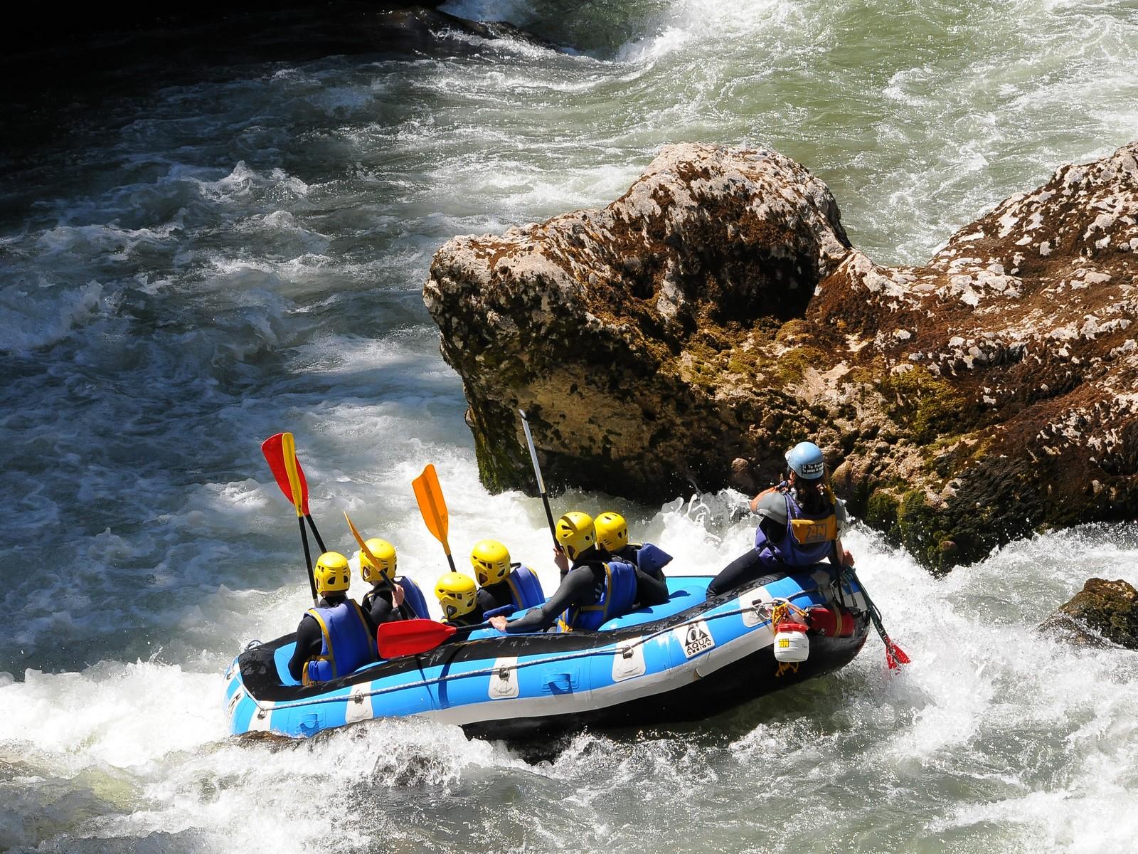 rafting sur la Dranse activité incentive séminaire à Evian