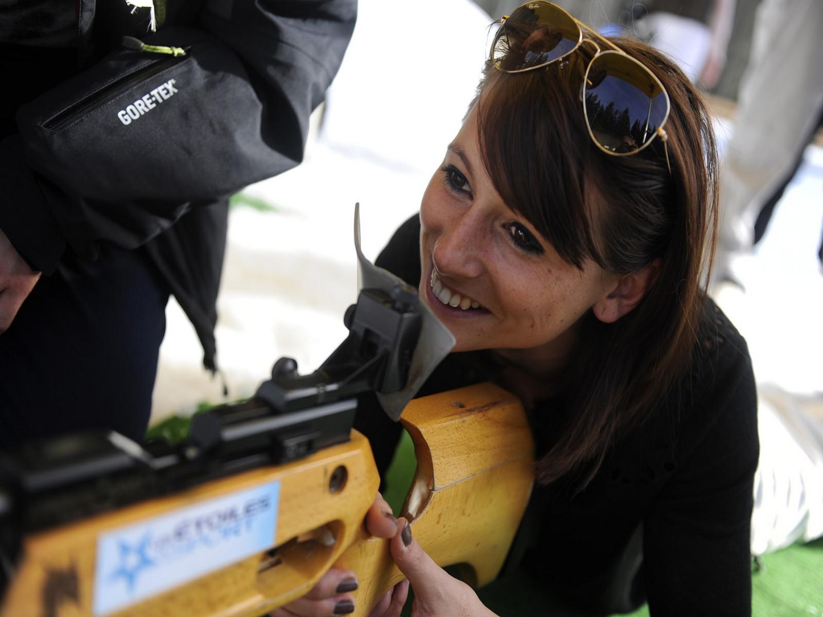 Biathlon, activité teambuilding séminaire à albertville